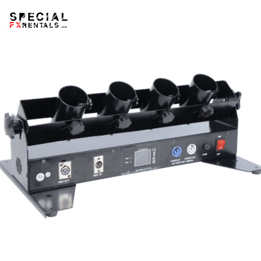 Electric 4 Shot Horizontal Confetti Cannon Shooter Rental Special FX Rentals