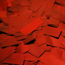 Red Metallic Confetti - Red Mylar Confetti Special Fx Sales