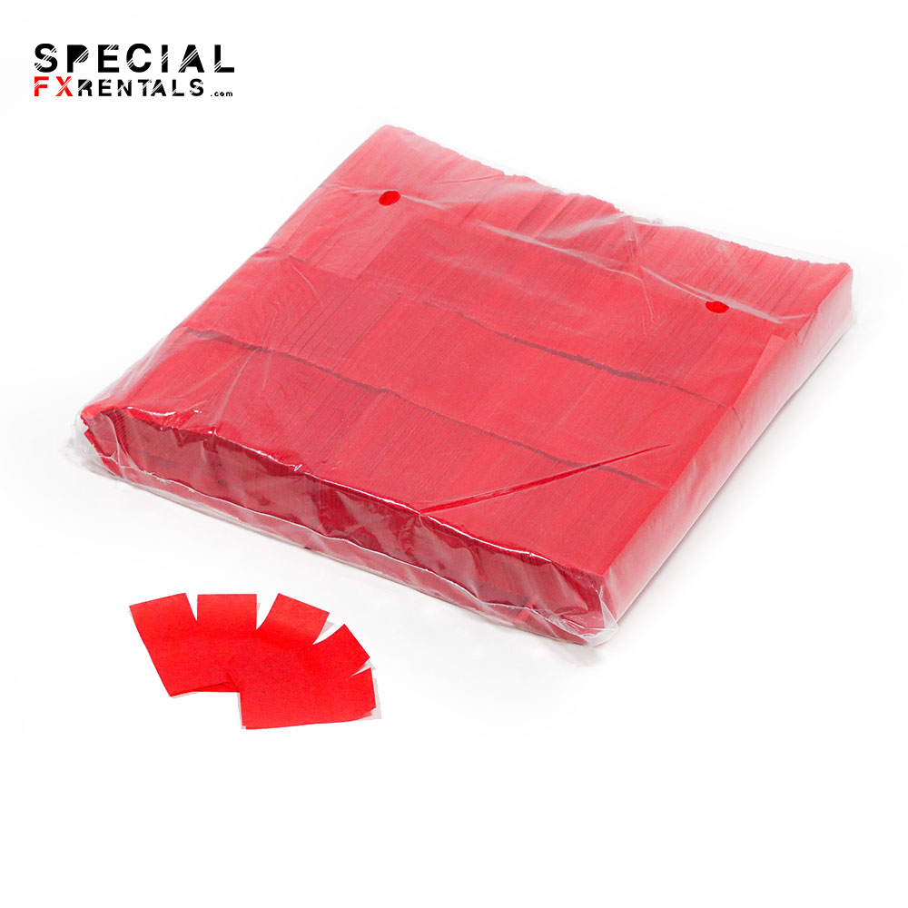 Red Tissue Confetti Special FX Rentals