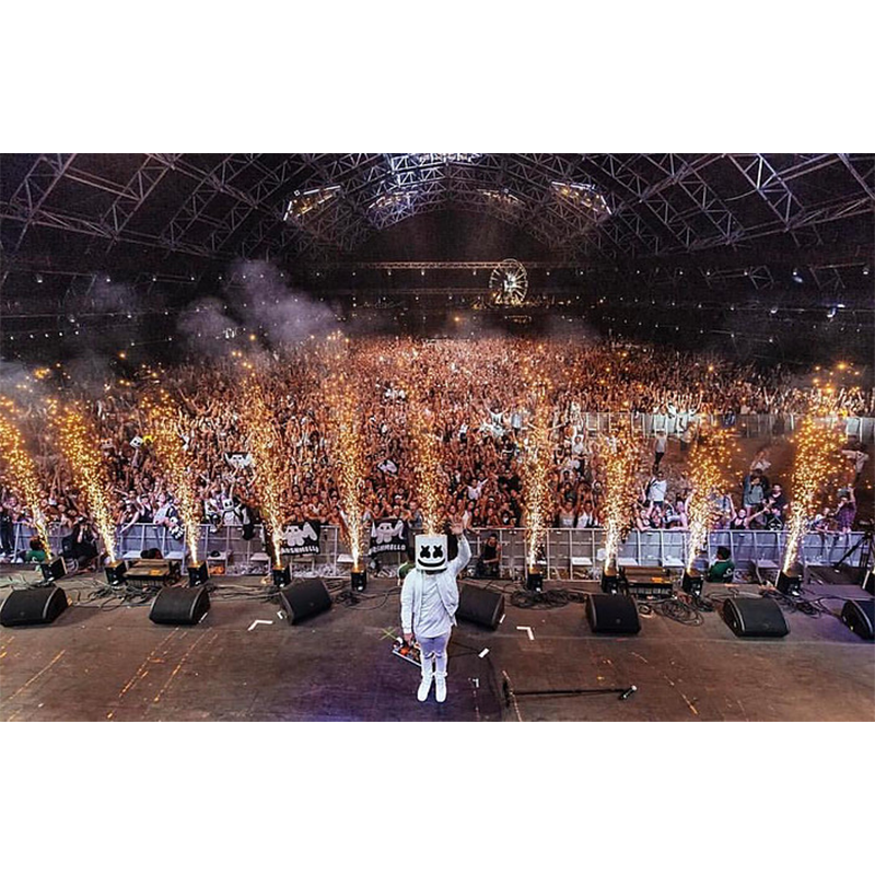 Sparkular Cold Spark Machine Rental at Marshmello Concert Special FX Rentals