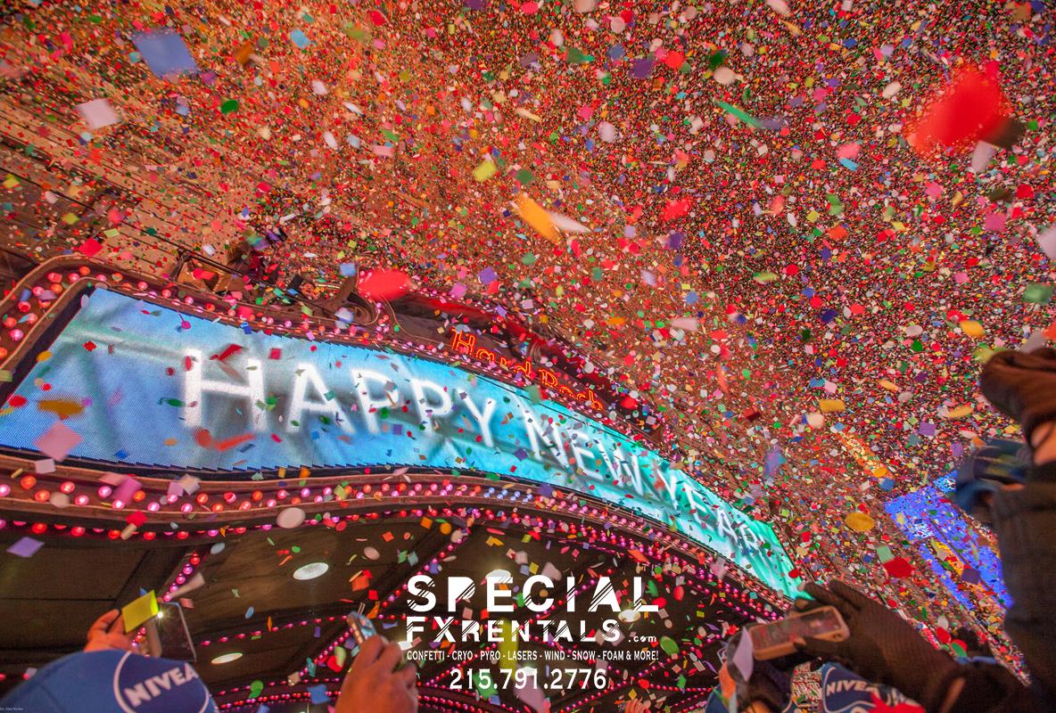 New Years Eve Confetti Rental Blast Special FX Rentals