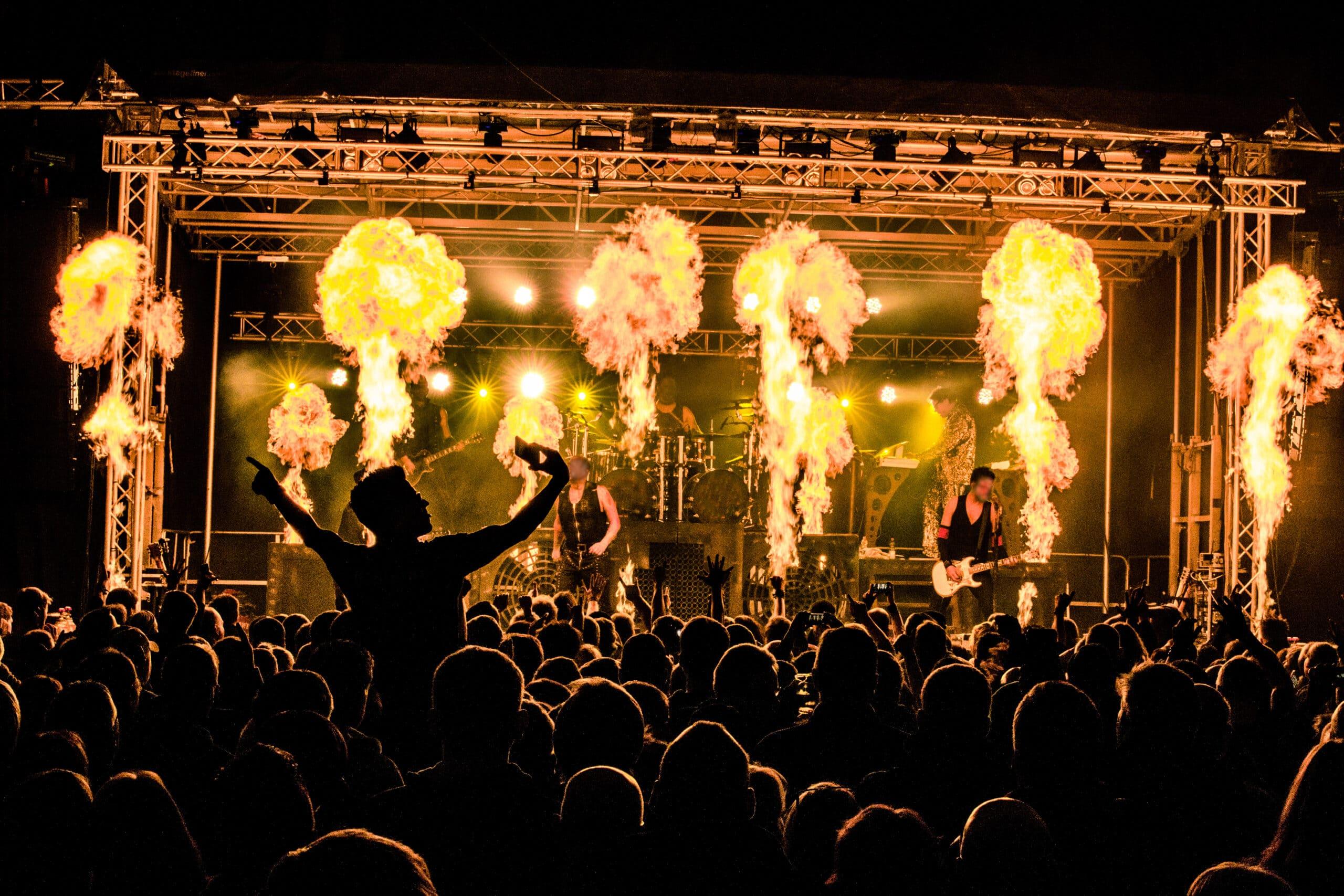 Concert Stage Flame Machine Rental