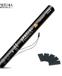 Black Rectangle Tissue Confetti Electric Confetti Shooter E-Cartridge Special FX Rentals