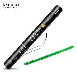 Green Streamer Metallic Mylar Confetti Electric Confetti Shooter E-Cartridge Special FX Rentals