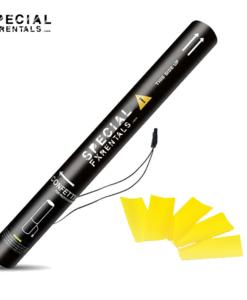 Yellow Rectangle Tissue Confetti Electric Confetti Shooter E-Cartridge Special FX Rentals