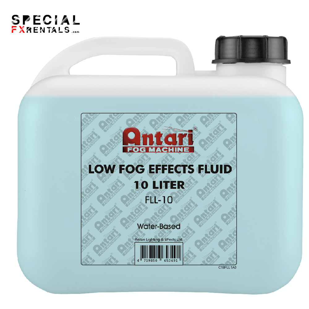 Low Lying Fog Fluid For Sale   Antari FLL-10 Low Fog Effects Fluid for Antari Fog Machines (1 Gallon, Blue Formula)   Special FX Rentals