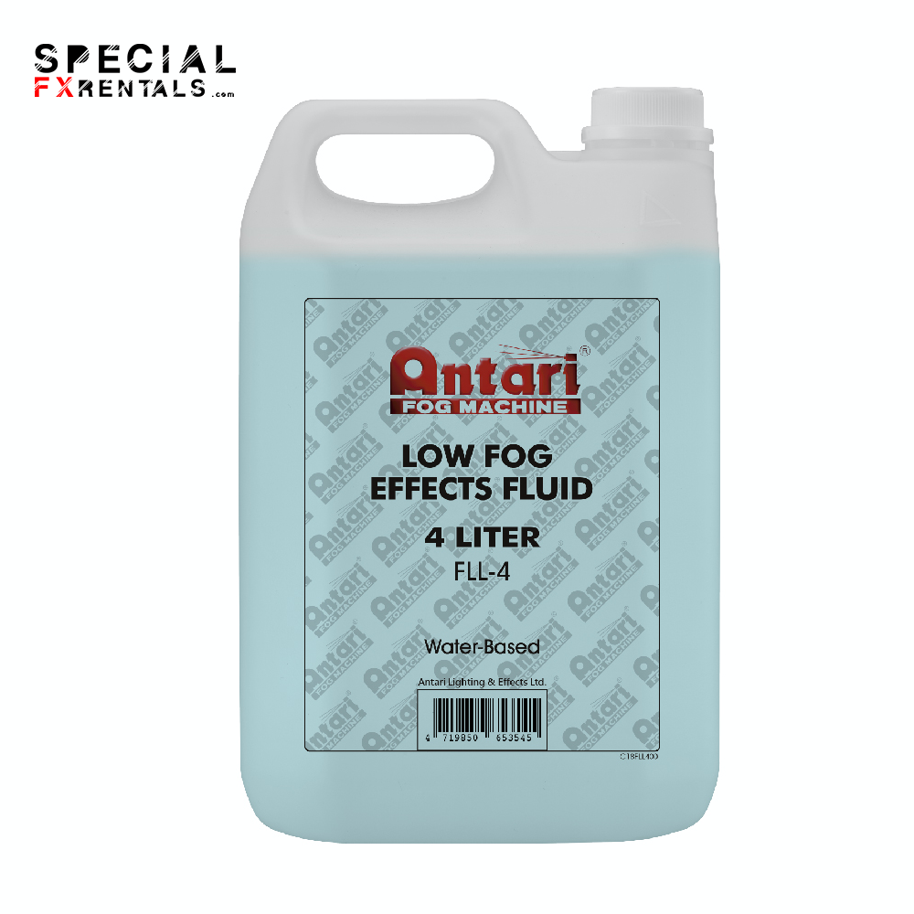 Low Lying Fog Fluid For Sale   Antari FLL-4 Low Fog Effects Fluid for Antari Fog Machines (1 Gallon, Blue Formula)   Special FX Rentals