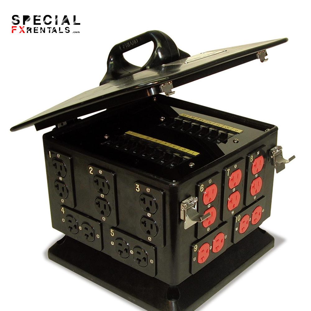 Lex PowerHOUSE Pagoda 100 Amp 3 Phase Portable Distribution Box, 15 Duplex Receptacles Special FX Rentals