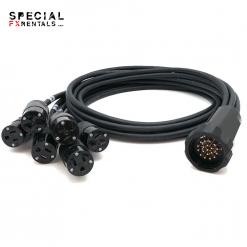 Socapex Cable 19-Pin – Edison Breakout Rental Special FX Rentals